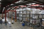 Rayonnage lourd palettes 3 niveaux - Charge 3000 kg / niveau - Capacité stockage : 12 Euro palettes