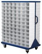 Rayonnage mobile bacs tiroirs transparents - Support roulant - Disponible en plusieurs modèles