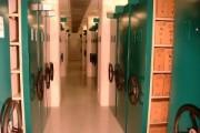Rayonnage mobile boîtes archives - Rayonnage métallique Profiltol sur mobile mécanique