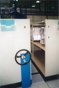 Rayonnage mobile mécanique photo - Rayonnage métallique Profilplus sur mobile mécanique