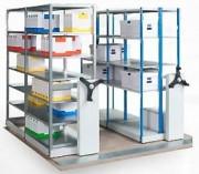 Rayonnage mobile pour archives - Capacité de charge : jusqu'à 150 kg (au mètre linéaire)