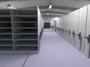 Rayonnage mobile sur rails - Divers hauteurs et profondeurs disponibles