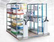 Rayonnage mobile tubulaire d'archives - Pour archivage - Optimisation de l'espace