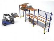 Rayonnage palettes charges lourdes - Charge admissible par alvéole : de 900 kg à 4500 kg