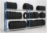 Rayonnage pneu à niveau - Profondeur 400 mm, hauteur 2000 mm, longueur 1800 à 2250 mm