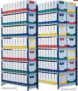 Rayonnage pour archive - Charge utile par tablette 180 Kg - Tablettes réglables tous les 5 cm