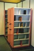 Rayonnage pour bibliothèque mobile - Longeur 12 mètres,  charge jusqu'à 8 tonnes