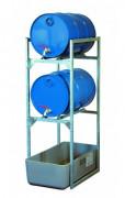 Rayonnage pour petits récipients et fûts - Rayonnage 120 avec bac de rétention 65 litres