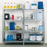 Rayonnage pour produits dangereux charge 130 Kg par étagère - Charge admissible par étagère : 130 kg