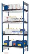 Rayonnage pour récipients charge 200 Kg par niveau - W.Z.2860, W.Z.2862, W.Z.2865