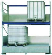 Rayonnage pour réservoirs - L x l x H : 293 x 150 x 200 cm - réservoirs de 1000 litres