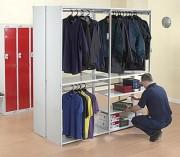 Rayonnage vêtement fixe - Permet de réaliser du stockage sur cintre