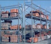 Rayonnages à palettes exterieur - Galvanisée, permet le stockage de palettes