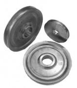 Réa à moyeu court - 2 versions :  Usinée ou baguée bronze - Charge maximale utile (kg) : De 0.8 à 4