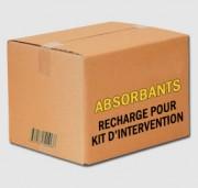 Recharge du kit d'intervention absorbant - Capacité d'absorption : 125 litres ou 250 litres
