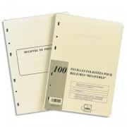 Recharge universelle 100 feuilles foliotées, perforation 6 trous - Exacompta