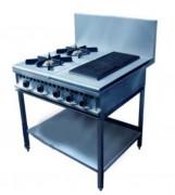 Réchaud à double brûleur - 2 Feux Vifs - 1 Grill mutifonctions - 4 commandes