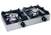 Réchaud à gaz professionnel 2 brûleurs - Puissance 13 kW - Double brûleur circulaire stable