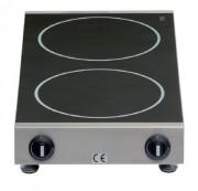 Réchaud à induction 2 faces de cuisson - Électrique - Réglage de la température en continu - Système de détection des casseroles