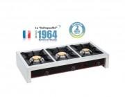 Réchaud gaz à 3 feux - Fabrication française  -  Garantie 2 ans