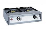 Réchauds à gaz 2 feux - Débit horaire : 0,60 kg/h (Gaz Propane) - 0,81 m3/h (Gaz naturel)