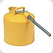 Récipient pour liquides inflammables - En acier, avec flexible en acier