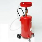 Récupérateur d'huile par gravitation - Vidange de la cuve par air comprimé