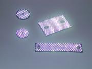 Réflecteur à bille de verre - Rond ou Rectangle
