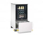 Réfrigérateur mobile pour bureau - Corps, façades en acier