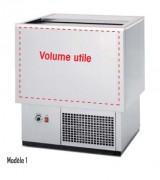 Refroidisseur de bouteilles - Dimension (L x P x H) mm : Jusqu'à 2005 x 540 x 835 - Fond plat