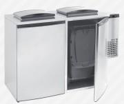 Refroidisseur de déchets 2 portes - Capacité : 2 x 240 litres - Dimensions L x P x H : 1750 x 870 x 1290 mm