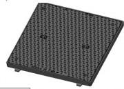 Regard carré hydraulique C250 - Classe : C 250 - Plusieurs dimensions disponibles