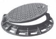 Regard en fonte chaussée et trottoir D 400 - Classe D 400 - Dimension extérieure (mm) : 850