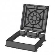 Regard hydraulique en fonte articulé D 400 - Classe D 400 / Forme : Carrée
