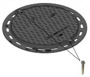Regard pour trottoir rond B 125 - Classe B 125 - Dimensions extérieures (mm) : 300 - 400 - 500 - 650 - 800