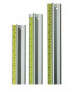 Règle métallique de coupe - Lot de 12 unités - Longueurs  : 1000 - 1500 - 2500 mm