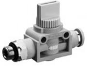 Régulateur de flux filetage - Vanne d'arrêt 3/2 QR1-ASG