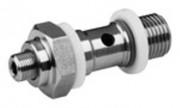 Régulateur flux acier inoxydable - Limiteur de débit unidirectionnel Série CC02