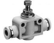 Régulateur flux pneumatique raccord instantané - Limiteur de débit unidirectionnel Série CC01
