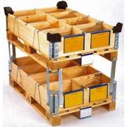 Rehausse bois pliante à 4 charnières - Hauteur : 200 mm