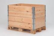 Rehausse de palette bois 1200 x 800 mm - Rehausse bois, 4 charnières galvanisées, 2,0 mm, sans marquage, 38200
