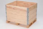 Rehausse de palette bois avec marquage - Rehausse bois, 4 charnières galvanisées, 1,25 mm, avec marquage, 31132