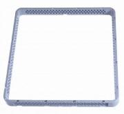 Rehausse ouverte pour casier à vaisselle - Dimensions (L x l x h) mm : 500 x 500 x 40