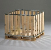 Réhausse palette avec ridelle rabattable - Capacité de charge statique : 1500 kg