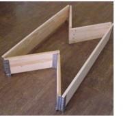 Réhausse palette pliable bois - Réhausse pliable norme NIMP