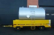 Remorque à cuve acier inox 316 litres - Remorque citerne avec frein de parcage