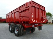 Remorque agricole 2 essieux - Type de suspension : Tandem