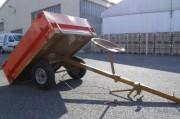 Remorque agricole pour tondeuse et motoculteur - Charge Utile : 500 Kg  -  Freinage : mécanique
