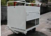 Remorque bagage ouvertures latérales charge maxi 2 Tonnes - Porte bagage