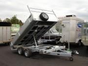 Remorque basculante électrique - Double essieux - PTAC : 3500 kg